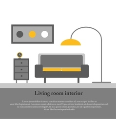 Modern design interior of the living room vector image vector image