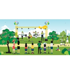 Music in the Park vector image vector image