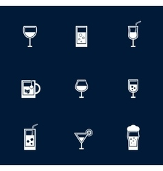 set isolated goblet and glasses object vector image vector image