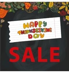 Thanksgiving day SaleAutumn leavesChalkboard vector image vector image