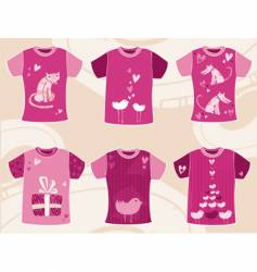 valentines day t shirts design vector image