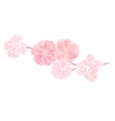 watercolor floral composition vector image