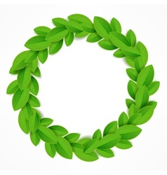 Green leaves wreath vector image vector image