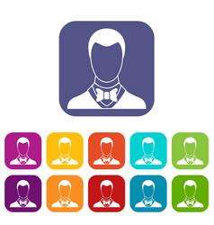 Groom icons set vector