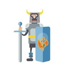 Mitovich knight in armor vector image