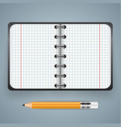 notepad notebok icon abstract infographic vector image vector image