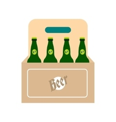 Packaging with beer icon vector