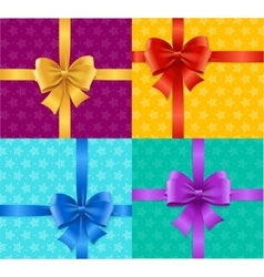Present Card Background or Packaging Set vector image vector image