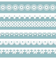 seamless laces on the blue background vector image