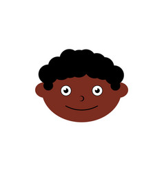 Children head icon element vector