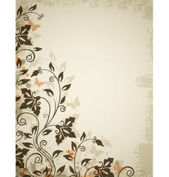 floral background old vector image vector image