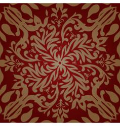 floral pink pattern vector image