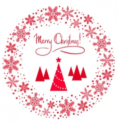 vector Christmas wreath vector image vector image