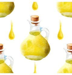 watercolor olive oil pattern vector image vector image