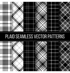 Black and White plaid buffalo check gingham vector image