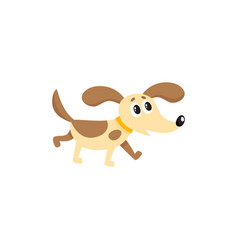 flat dog isolated vector image