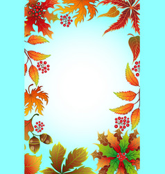 frame with autumn foliage vector image vector image