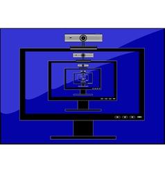 monitor web camera vector image vector image