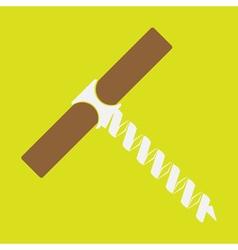 monochrome icon set with corkscrew vector image