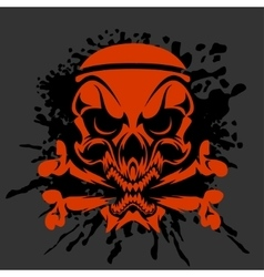 Pirate skull and crossbones - isolated on dark vector