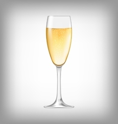 Realistic Glass of Champagne Isolated vector image