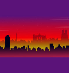 scenery london city building silhouettes vector image vector image