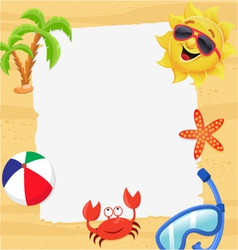 Summer Note vector image vector image