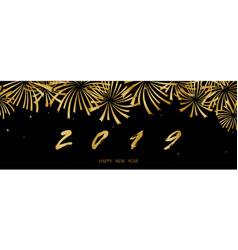 2019 happy new year background texture with golden vector image