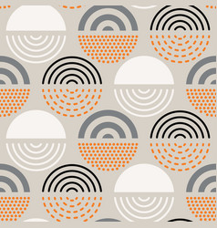 Abstract mid century pattern vector