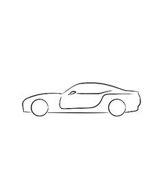 Abstract sport car profile vector
