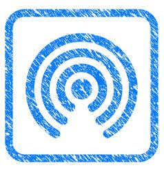 Airdrop source framed stamp vector