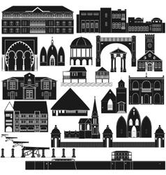 American architecture-3 vector
