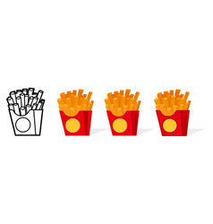 american french fries vector image