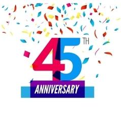 Anniversary design 45th icon anniversary vector