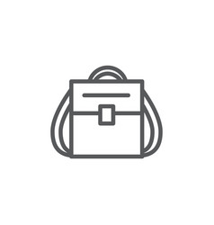 backpack line icon on white background vector image