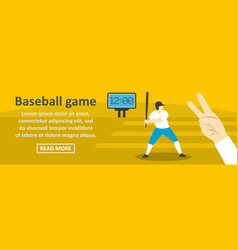 Baseball game banner horizontal concept vector