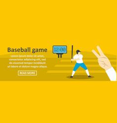 baseball game banner horizontal concept vector image
