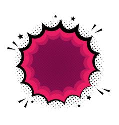 Blank template comic text speech bubble star vector