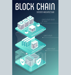 Blockchain system architecture vector