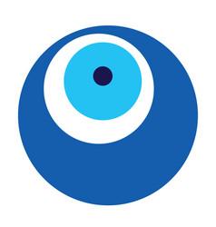 Blue evil eye vector