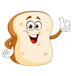 Bread slice cartoon vector