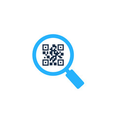 Browse barcode logo icon design vector