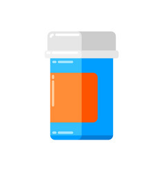 can pills icon in flat style vector image