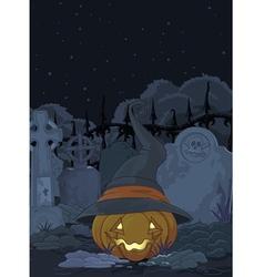 Cemetery pumpkin vector