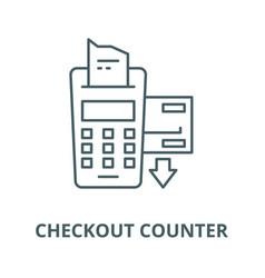 checkout counter line icon checkout vector image