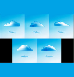 cloud abstract background vector image