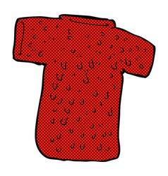 Comic cartoon woolly tee vector