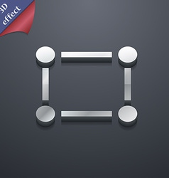 Crops and Registration Marks icon symbol 3D style vector