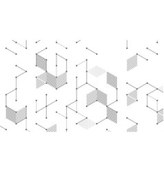 cube lines background 020818 vector image