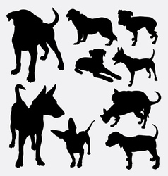 Dog pet animal silhouette 12 vector
